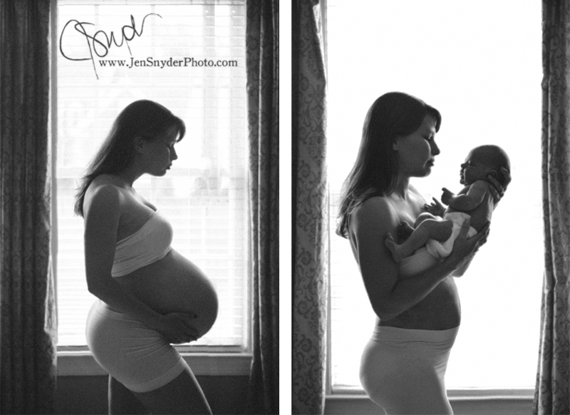 maternity and newborn portrait by maryland family photographer Jen Snyder