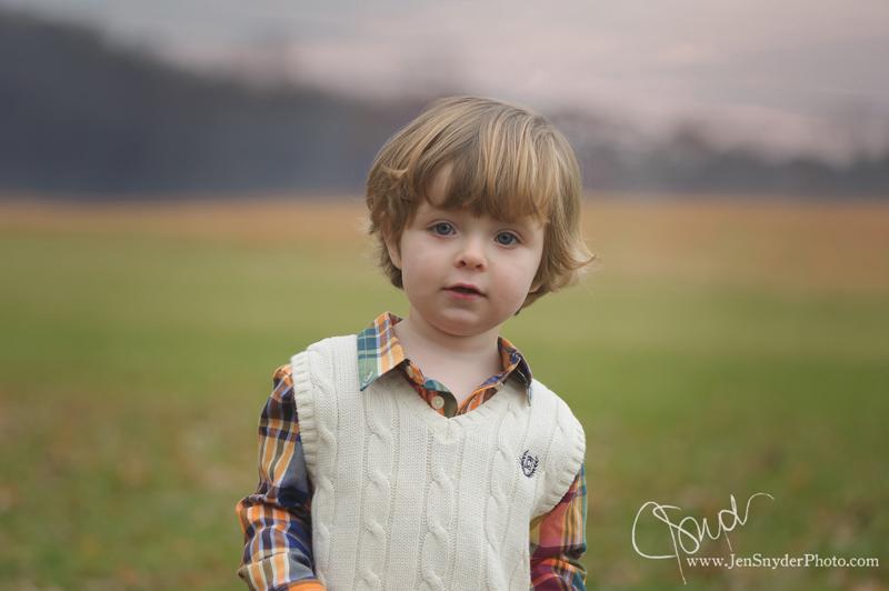 harford county child photographer jen snyder photographs a toddler boy at Jerusalem Mill