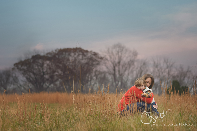 a portrait of a mother and her two year old son cuddling close, by bel air MD family photographer jen snyder