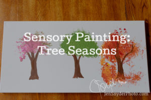 tutorial craft for kids, making tree seasons as sensory play https://jensnyderphoto.com