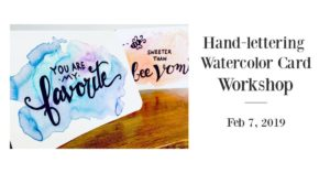 Hand Lettering and faux calligraphy class in Bel Air MD